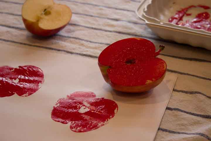Block Painting With Vegetables And Fruits