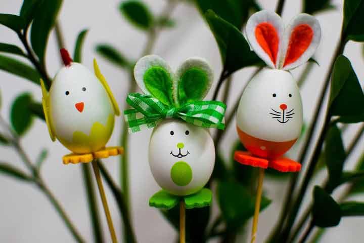 Colourful Egg Carton Flowers