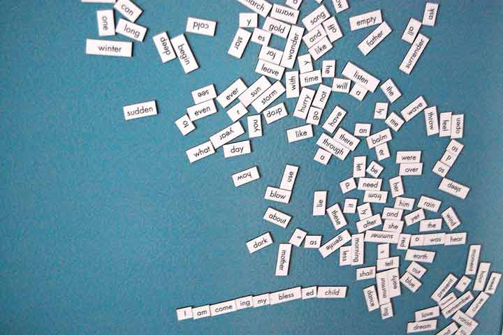 Story Making With Magnetic Words